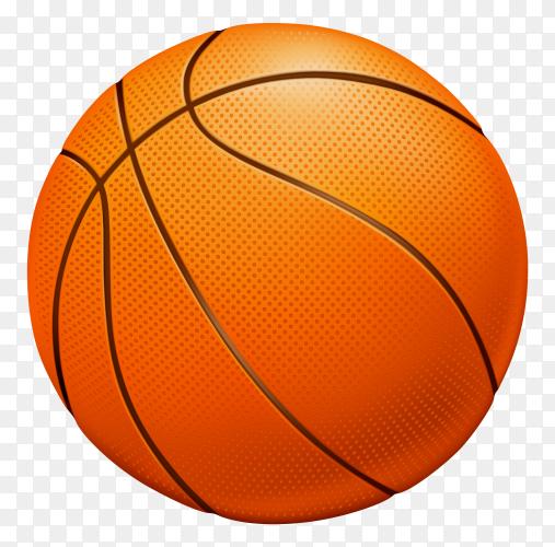 Basketball Illustration on transparent background PNG