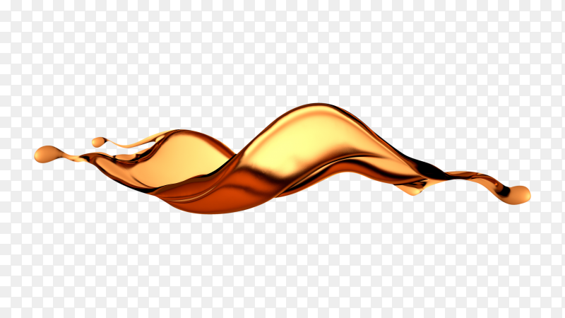 Beautiful splash brown liquid on transparent background PNG