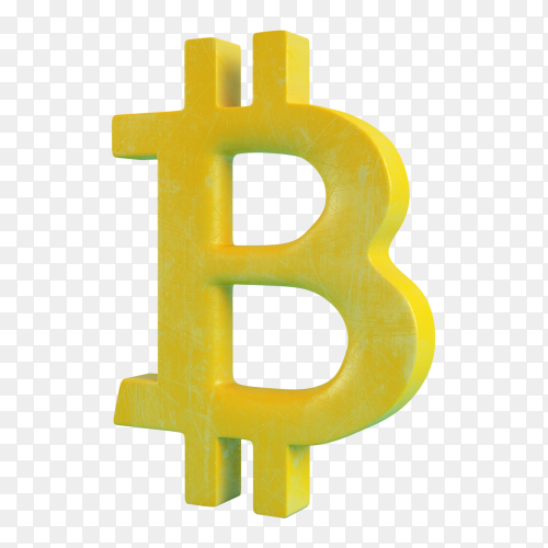Bitcoin symbol on transparent background PNG