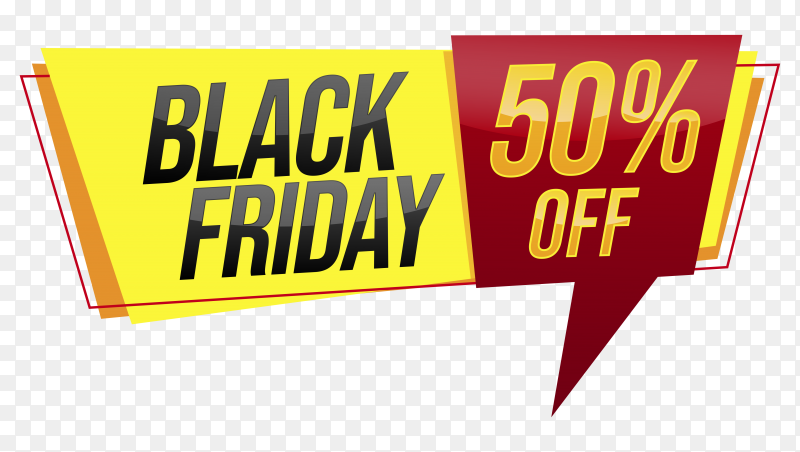 Black friday Special offer on transparent background PNG