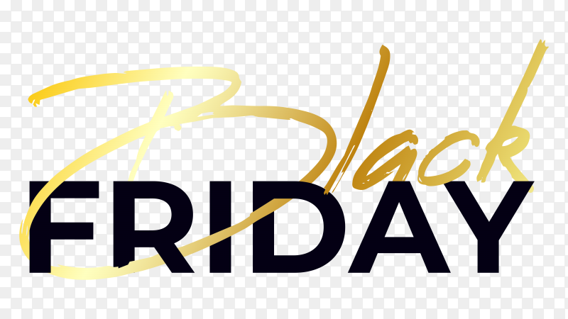 Black friday poster design on transparent background PNG