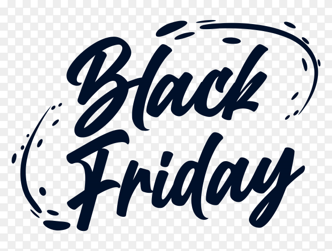 Black friday potser on transparent background PNG