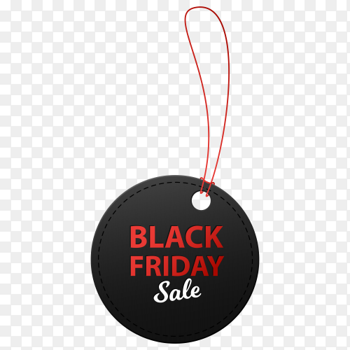 Black friday sale illustration banner on transparent background PNG