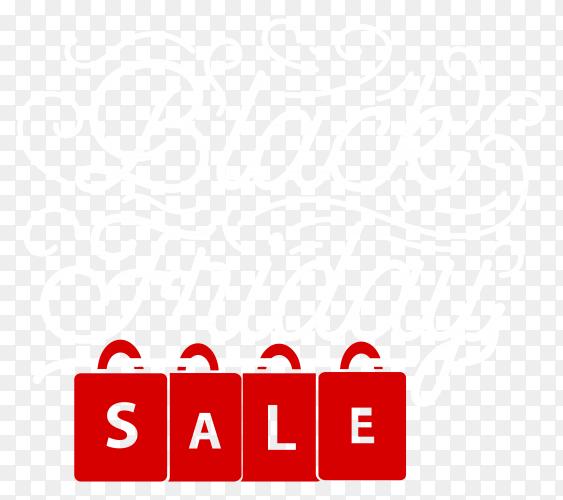 Black friday sale poster design on transparent PNG