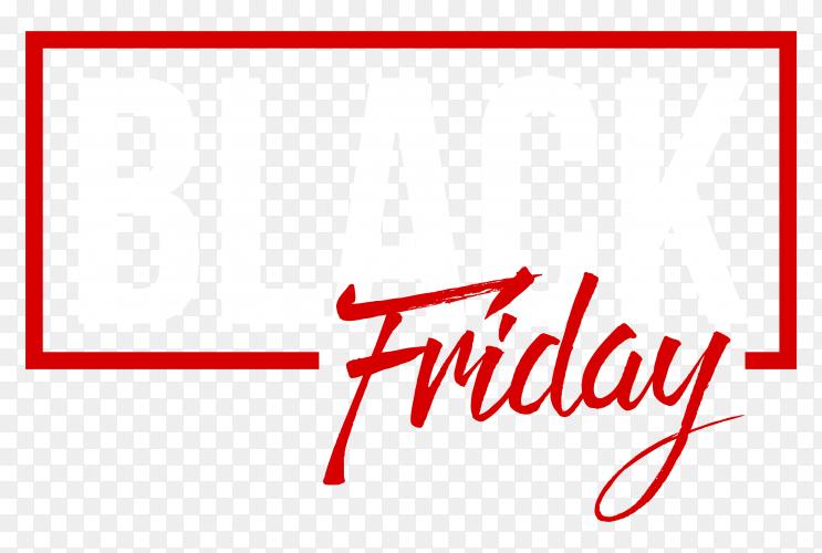 Black friday sale poster on transparent PNG