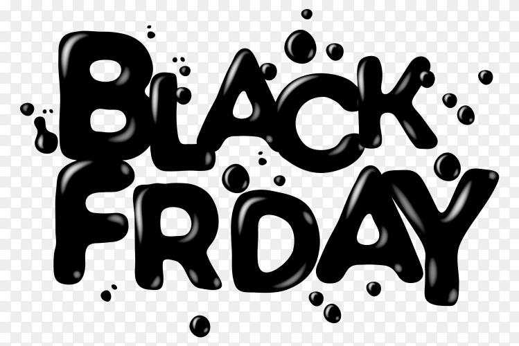 Black friday sale poster on transparent PNG