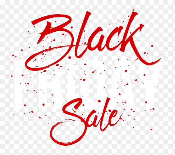 Black friday sale poster on transparent background PNG