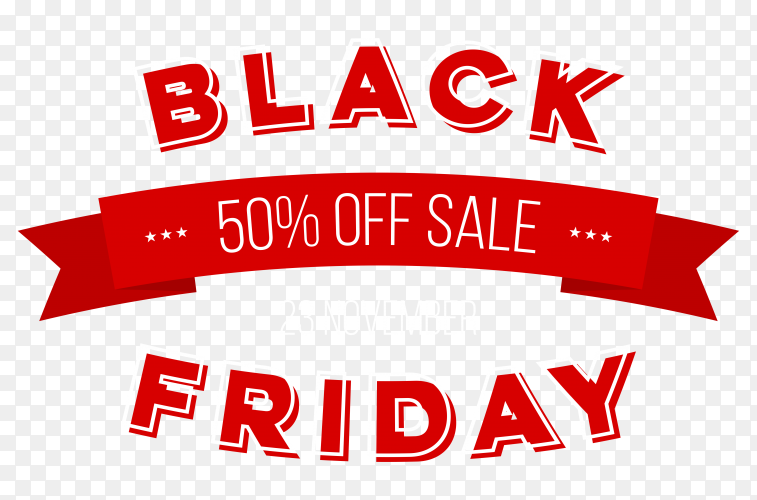 Black friday sale poster premium vector PNG