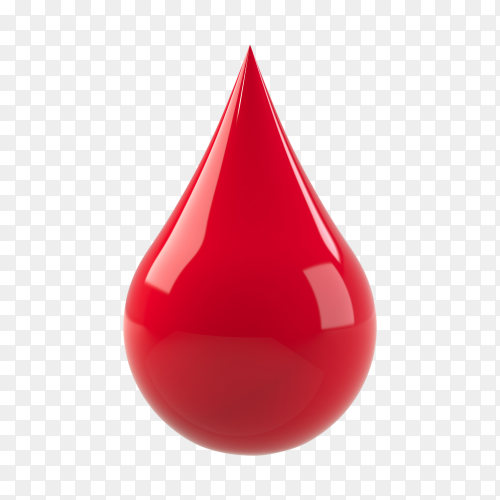 Blood drop isolated on transparent background PNG