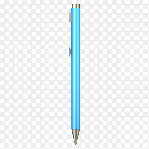 Blue pen isolated on transparent background PNG