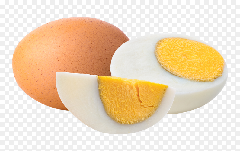 Boiled egg isolated on transparent background PNG