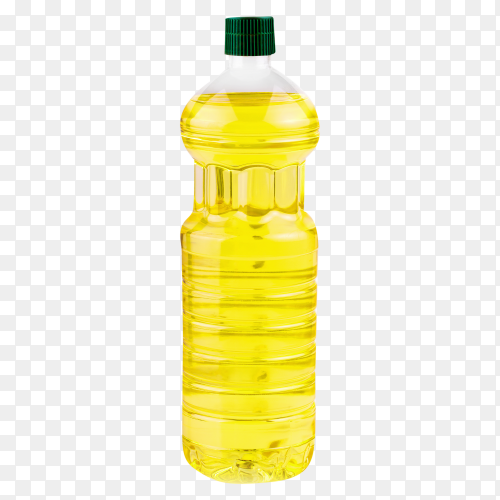 Bottle sunflower oil isolated clipart PNG