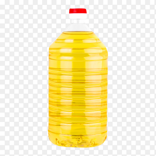 Bottle sunflower oil on transparent background PNG