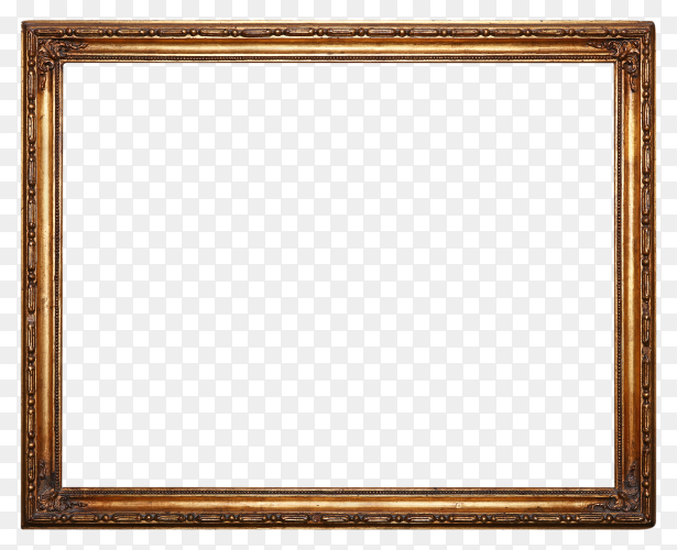 Brown frame on transparent background PNG