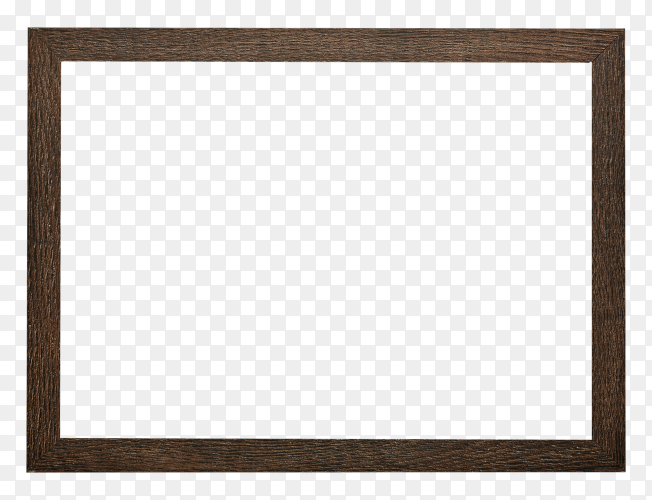Brown picture frame on transparent background PNG