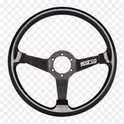Car Steering wheel on transparent background PNG
