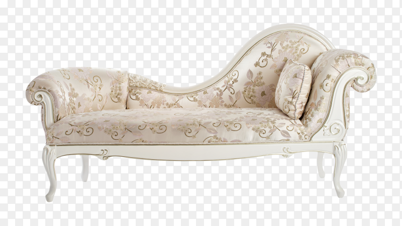 Carved couch on transparent background PNG