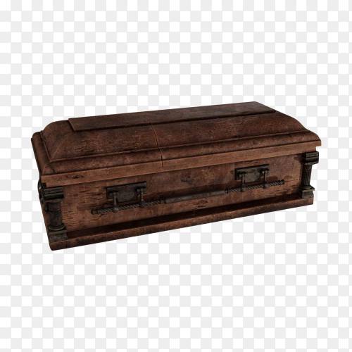 Cemetery coffin on transparent backround PNG