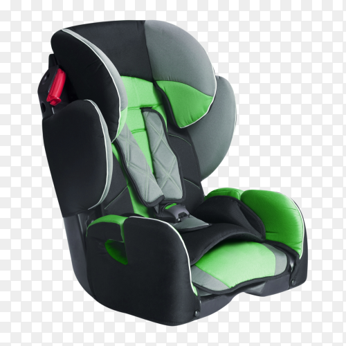 Child car seat isolated on transparent background PNG
