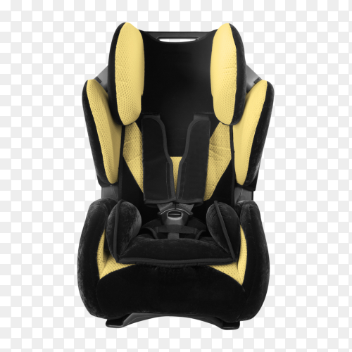 Childs car seat isolated on transparent background PNG
