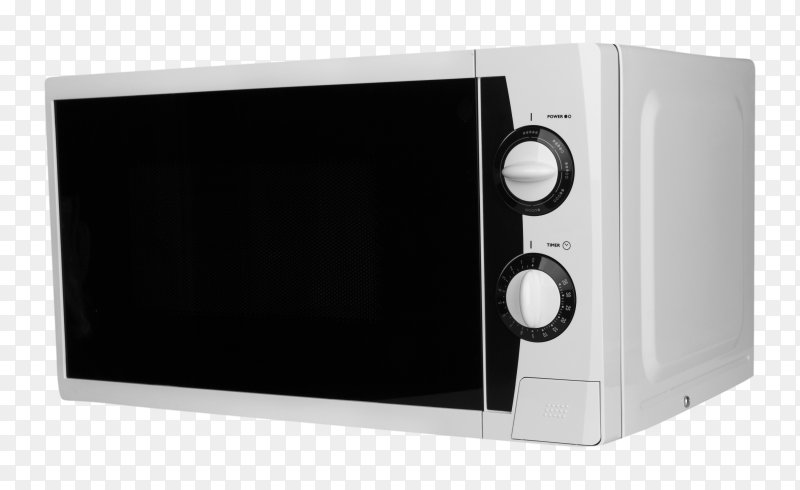 Closed microwave isolated on transparent background PNG