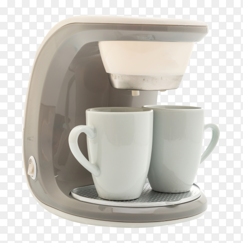 Coffee maker machine isolated on transparent background PNG