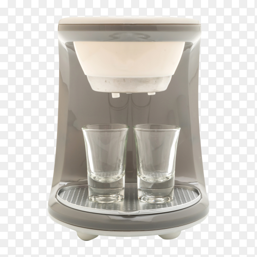 Coffee maker machine premium vector PNG
