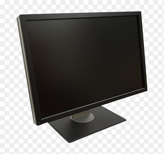 Computer monitor isolated on transparent background PNG