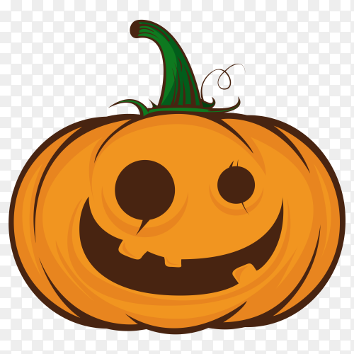 Crazy pumpkin characters halloween on transparent background PNG