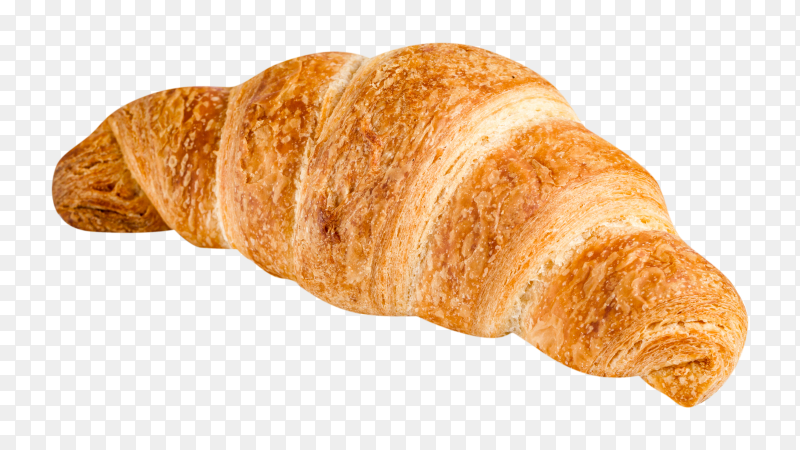 Delicious fresh croissant on transparent background PNG