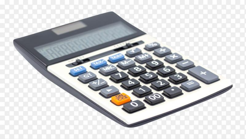Digital calculator on transparent background PNG