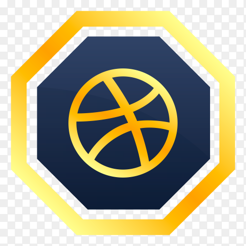 Dribble free icon on transparent PNG