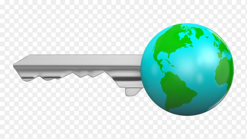 Earth key Illustration on transparent background PNG