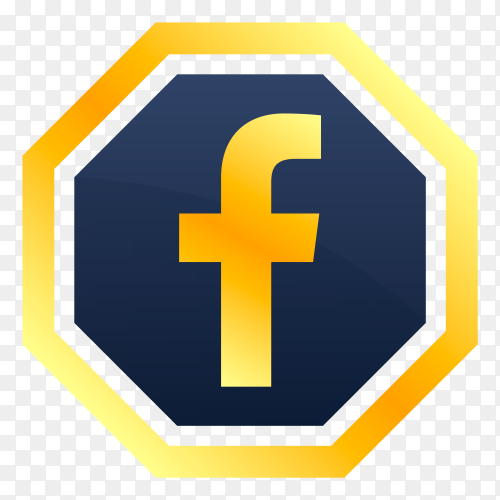 Facebook icon on transparent PNG