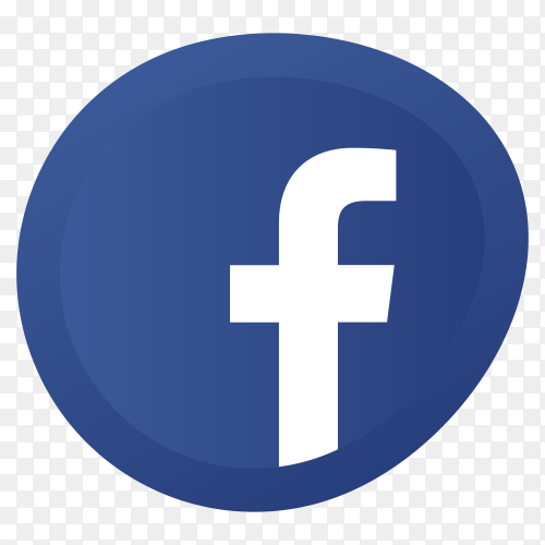 Facebook icon on transparent background PNG