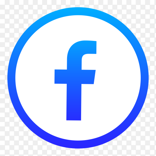 Facebook icon premium vector PNG
