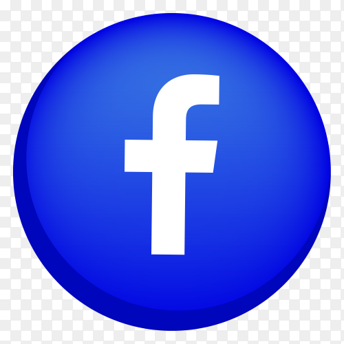 Facebook logo icon premium vector PNG
