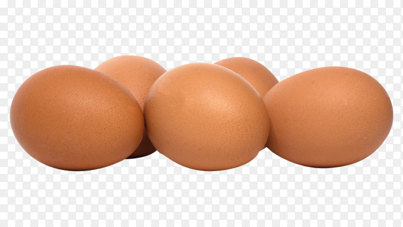 Fresh chicken eggs on transparent background PNG
