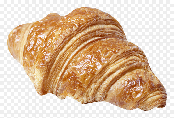 Fresh croissant on transparent background PNG
