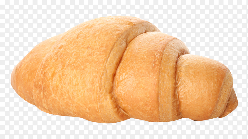 Freshly baked croissant on transparent background PNG