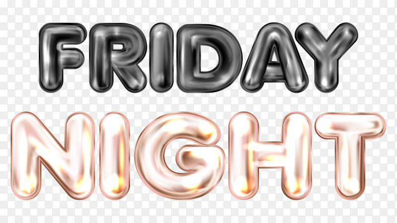 Friday night banner with colored dots on transparent background PNG