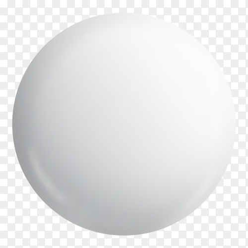 Glossy white button badge on transparent background PNG