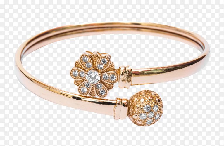 Golden bracelet jewelry on transparent background PNG
