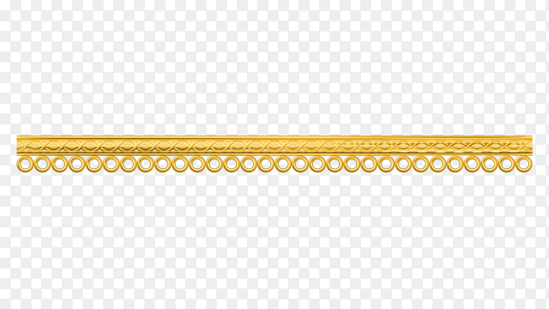 Golden decoration illustration on transparent background PNG