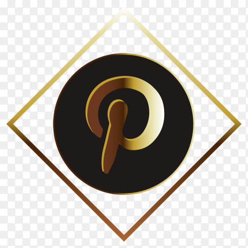 Golden paypal logo on transparent background PNG