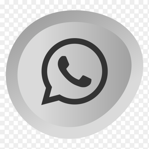 Gray whatsapp icon on transparent background PNG