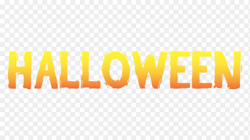 Halloween lettering design on transparent background PNG