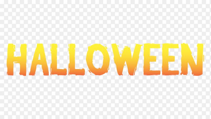 Halloween lettering design on transparent background PNG