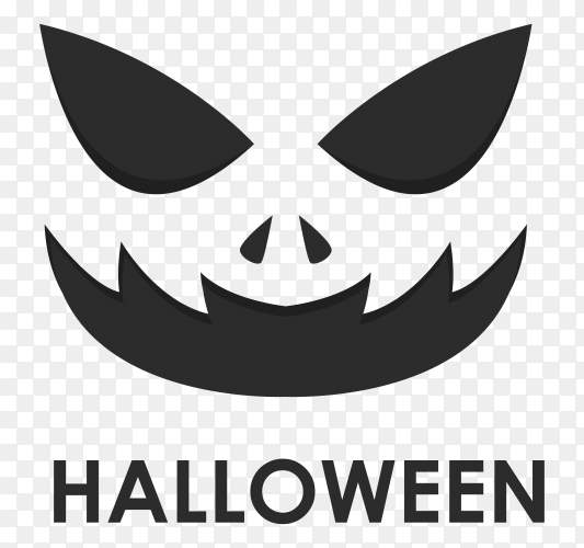Halloween poster design Illustration on transparent background PNG