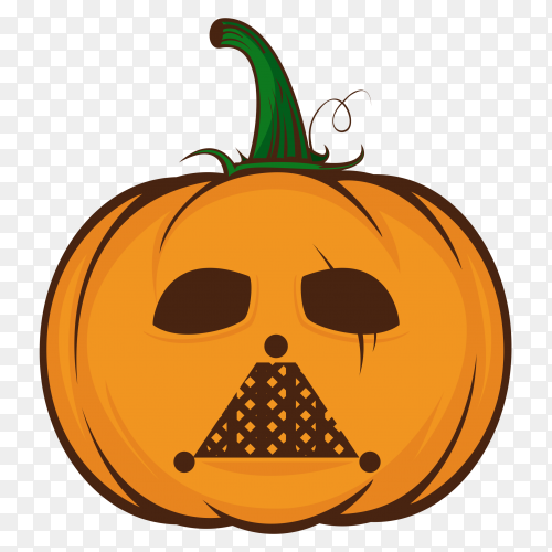 Halloween pumpkin cartoon on transparent background PNG